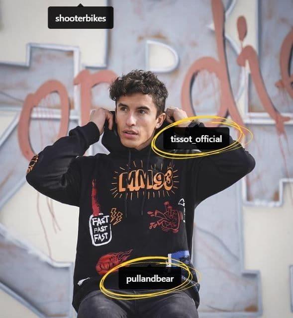 Marc Marquez fait la promotion de son sponsor Pull and Bear