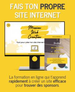 La formation pour créer son propre site internet